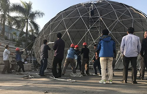 Installation Test - Shelter Dome